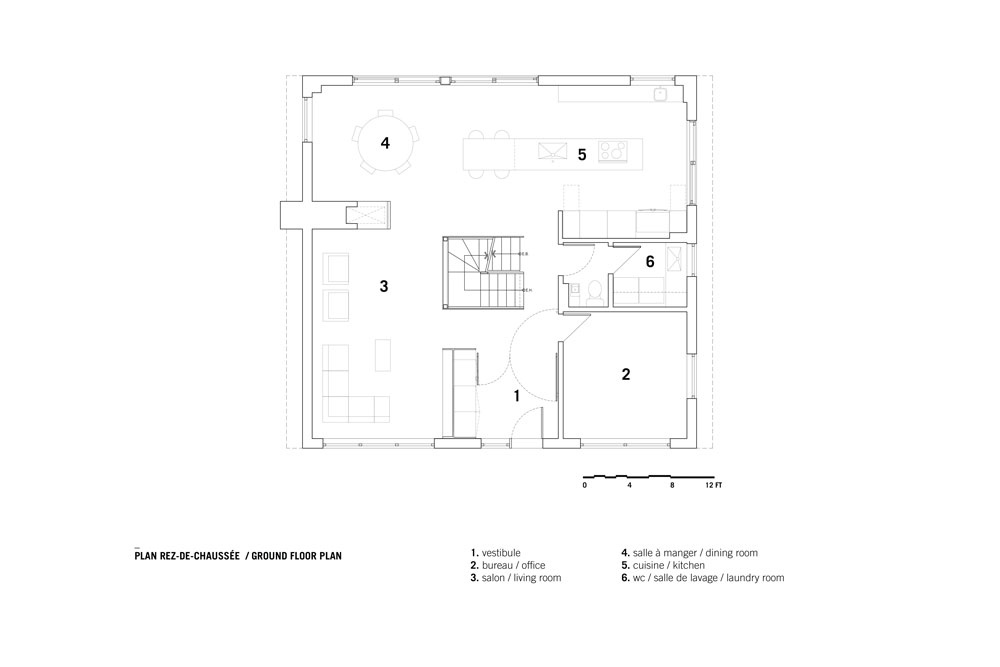 Closse residence by _naturehumaine Ground Floor Plan