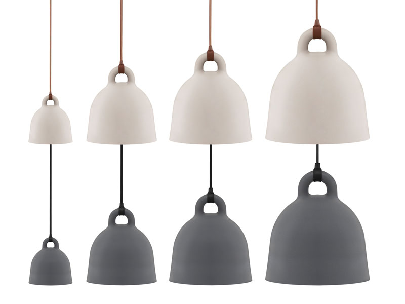 Bell-shaped pendant light by Normann Copenhagen