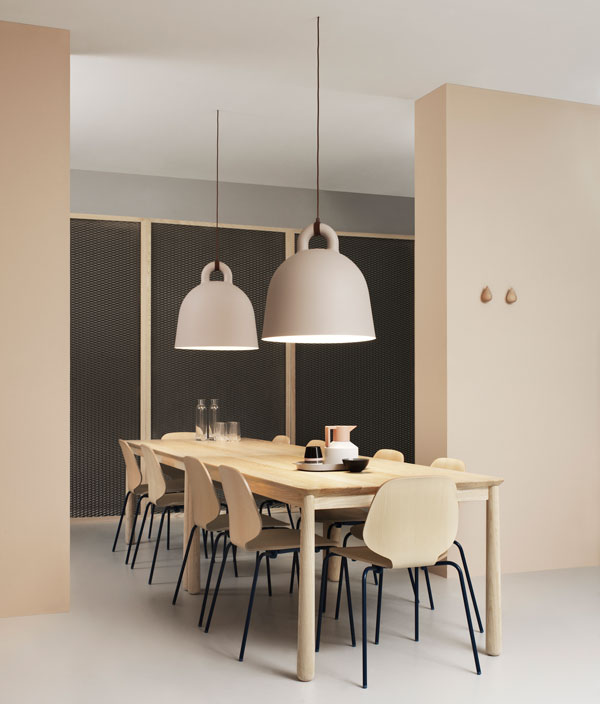 Bell-shaped pendant light by Normann Copenhagen