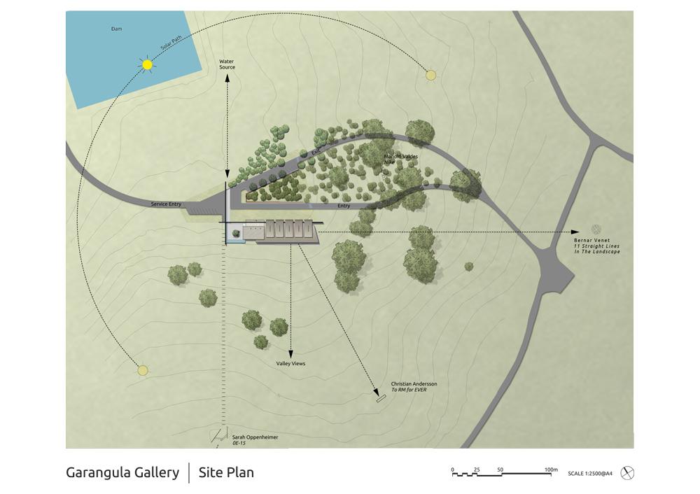 Garangula Gallery by Fender Katsalidis Mirams Architects - Site