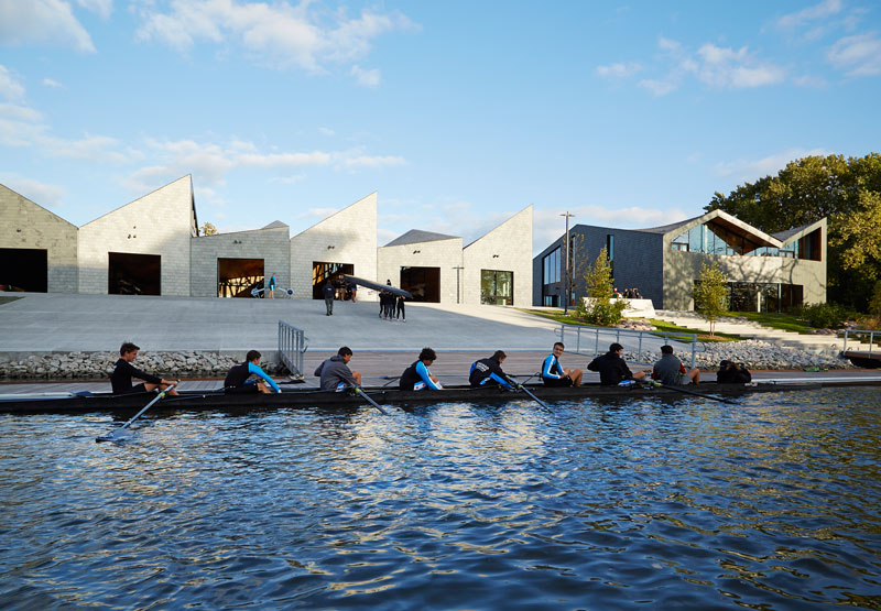 WMS Boathouse at Clark Park by Studio Gang Architects