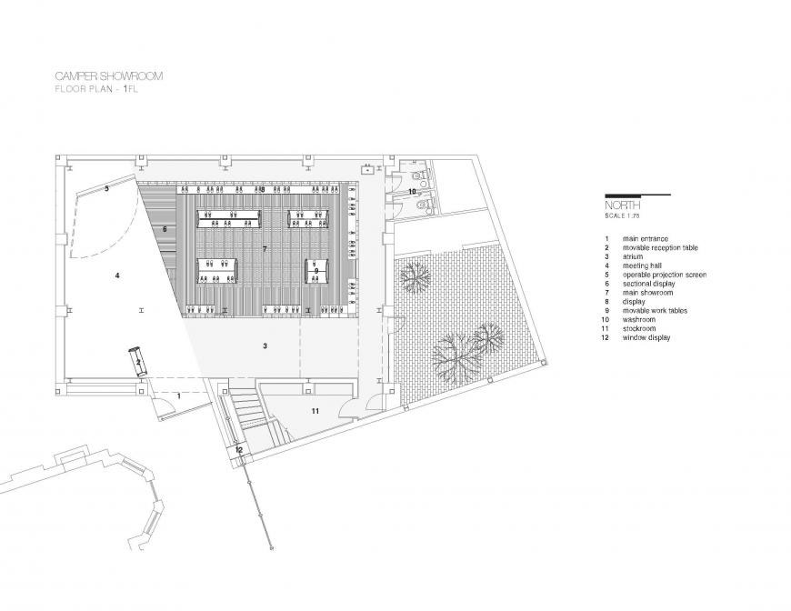 Camper Office and Showroom by Neri&Hu Design and Research Office Plan