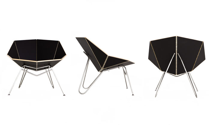 Cut-Fold designs chair Inspired by Papercraft