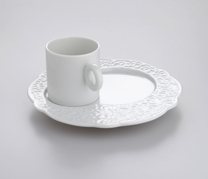 Dressed Breakfast Plate by Marcel Wanders for Alessi