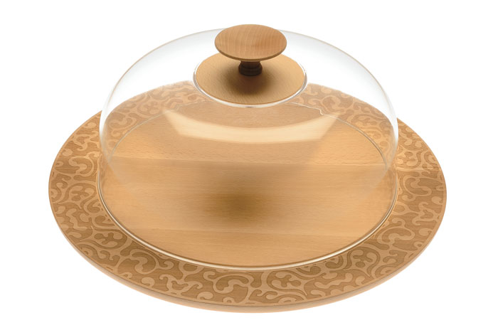 Dressed in Wood Cheese Tray With lid by Marcel Wanders for Alessi
