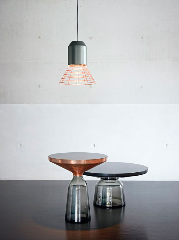 Bell Table & Bell Light by Sebastian Herkner