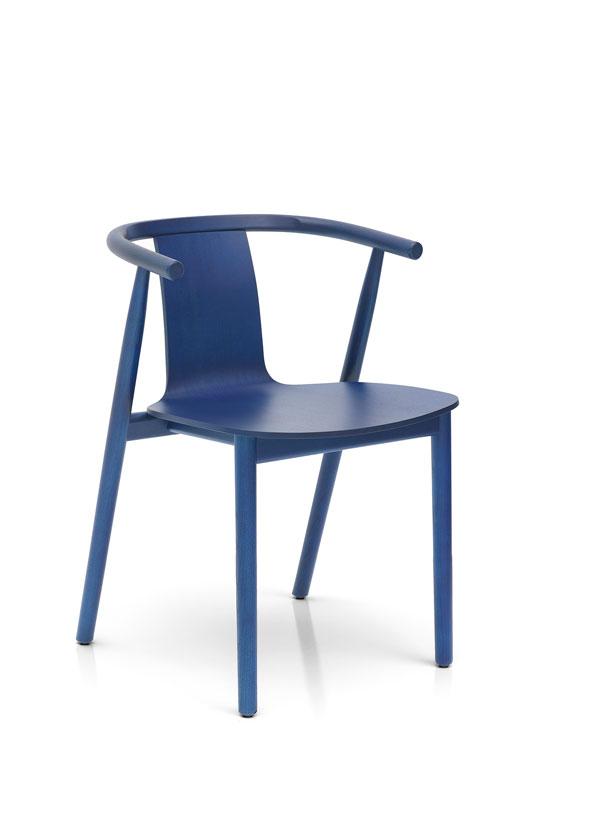 BAC chair Shanghai blue finish by Jasper Morrison for Cappellini