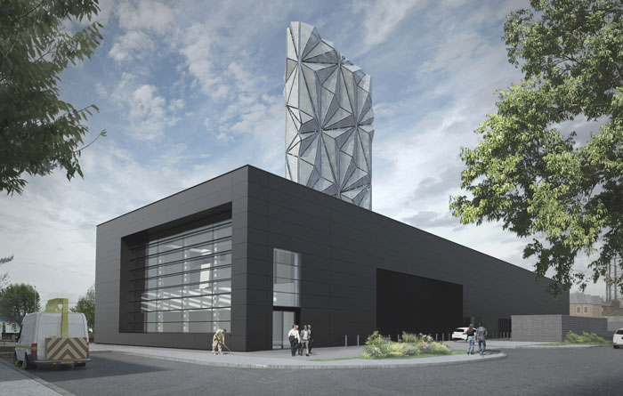 Greenwich Peninsula Low Carbon Energy Centre for C.F. Møller Architects