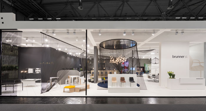 Brunner Exhibition Stand at Orgatec 2014 by Ippolito Fleitz Group