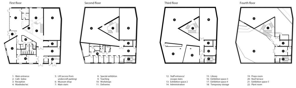 Sogn & Fjordane Art Museum by C.F. Møller - Floorplans