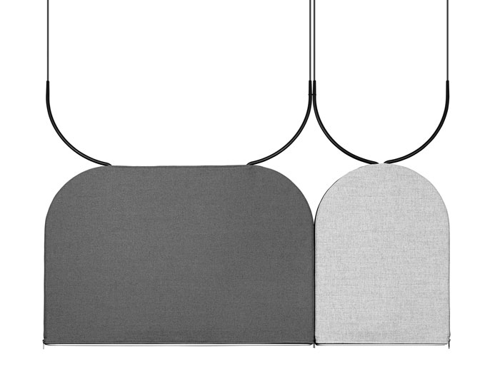 Ultra thin sound absorbing pendant from ZERO lighting