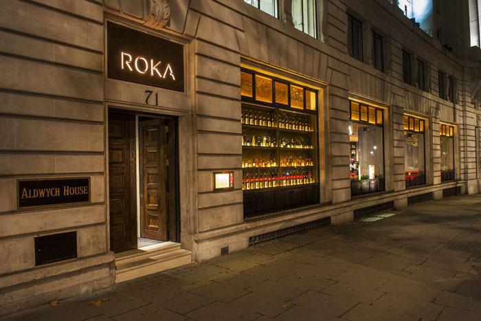 Roka Aldwych Restaurant by into lighting, designLSM and Claudio Silvestrin Architects
