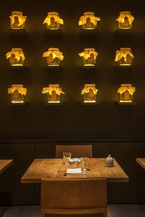 Roka Aldwych Restaurant by into lighting, designLSM and Claudio Silvestrin Architects