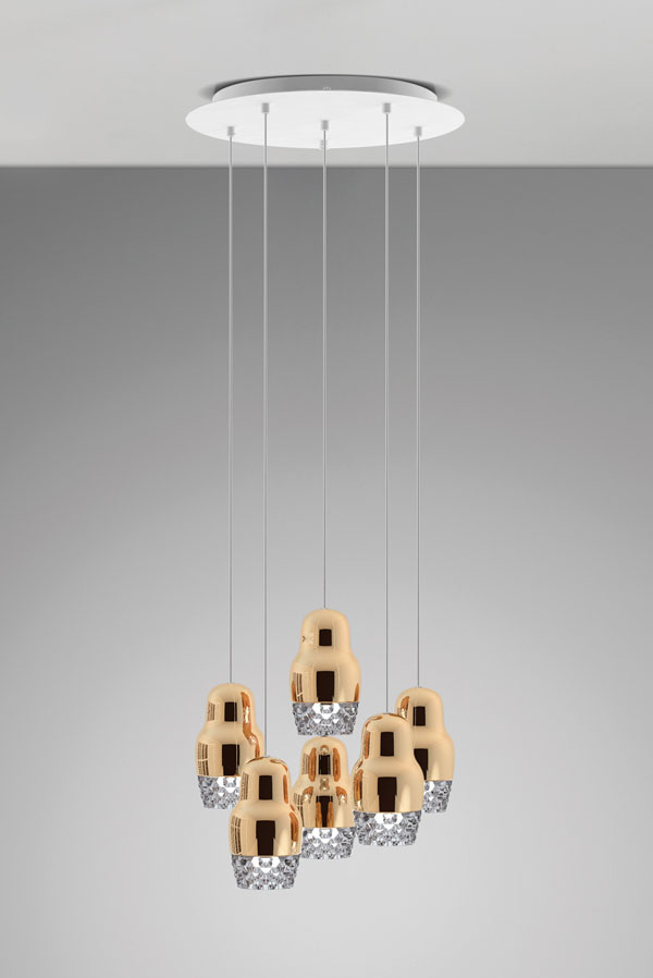 Fedora Suspension Lamp By Dima Loginoff For Axo Light