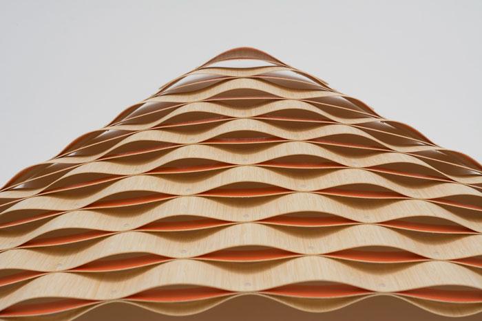 Ripple Sconce by David Trubridge