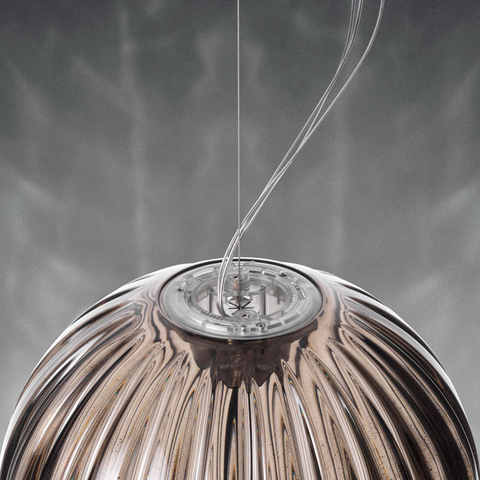 Detail of Plass Media Suspension Lamp by Luca Nichetto for Foscarini