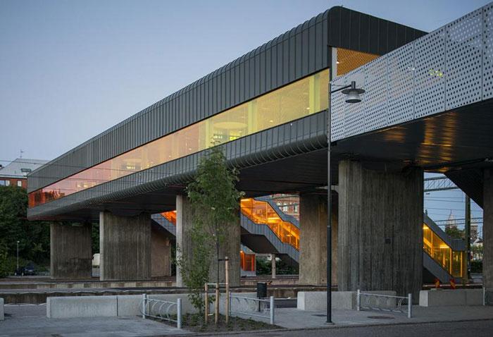 Skyttelbron Shuttle Bridge in Sweden by Sweco Architects