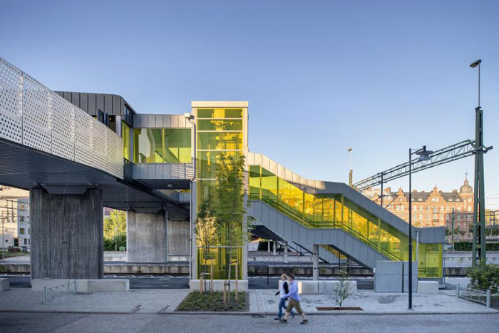 Skyttelbron Shuttle Bridge in Sweden by Sweco Architects