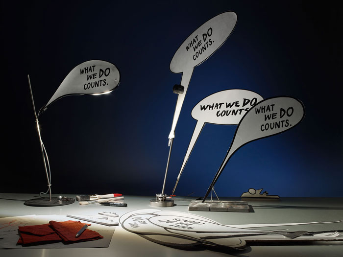 What We Do Counts Table Lamp by Ingo Maurer