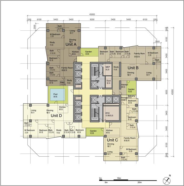 Hengqin International Financial Center by Aedas - typical office plan