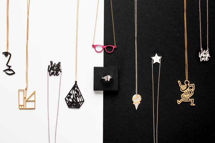 3D printed necklaces from Zazzy