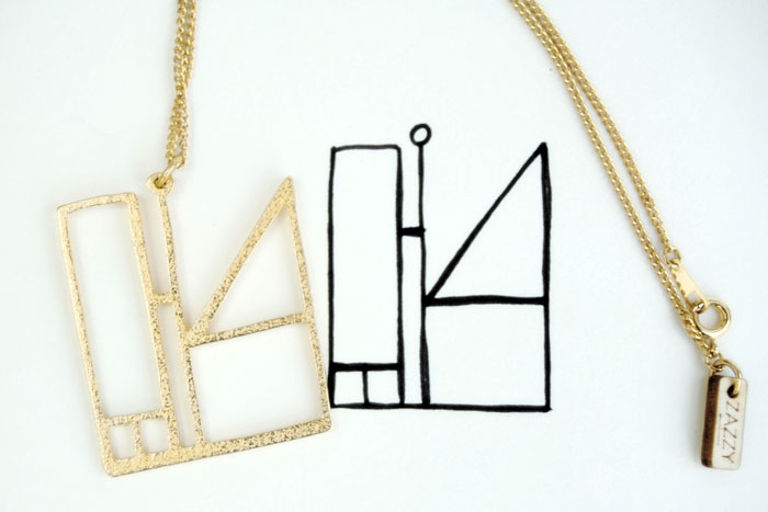 3D printed necklace from Zazzy