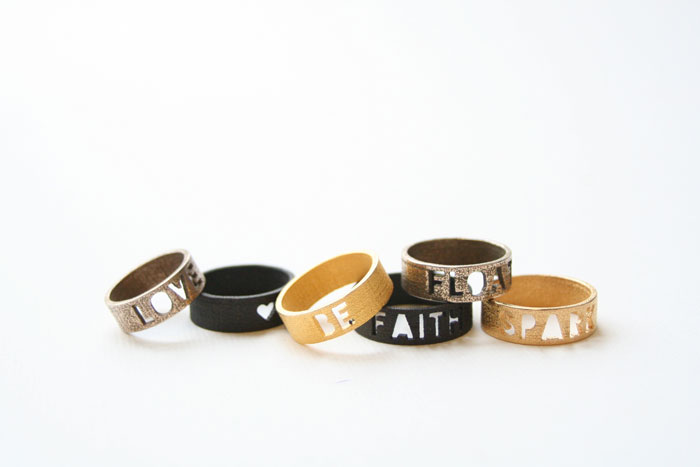3D printed rings from Zazzy