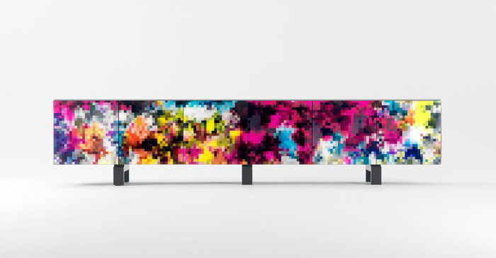 BD Barcelona presents new collection of pixel-art cabinets