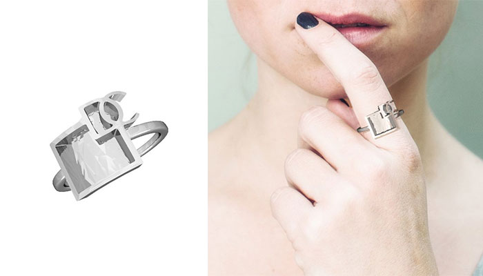 Design Chronicle Ring through Zazzy 3D printed Jewelry