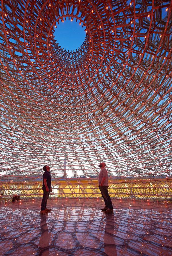 Inside UK Pavilion at Milan Expo 2015