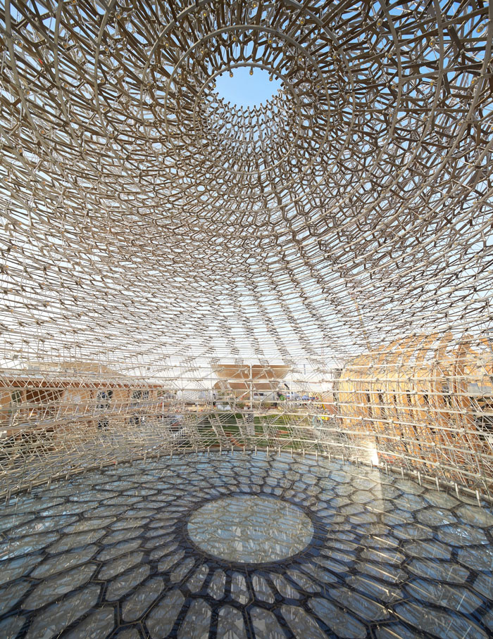 Inside UK Pavilion at Milan Expo 2015