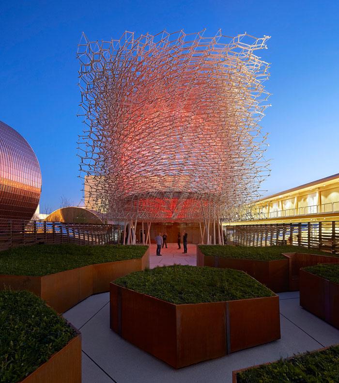 UK Pavilion at Milan Expo 2015 - Night view