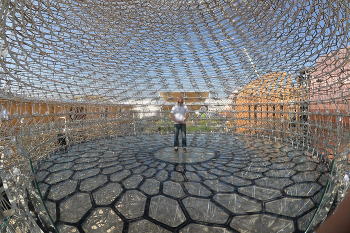Wolfgang Buttress at UK Pavilion for Milan Expo 2015.