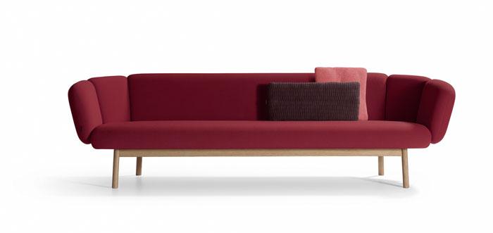 Bras Wood Sofa by Artifort