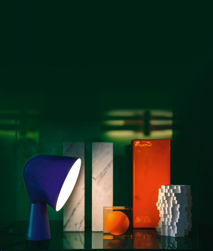 Binic Table Lamp by Foscarini in blue