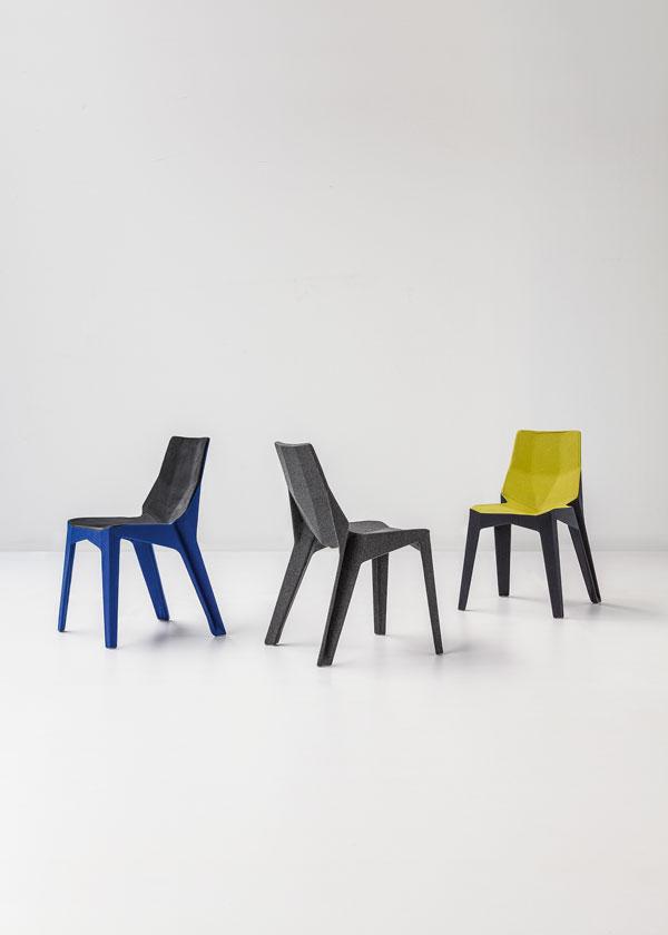 Poly XO and Poly XOXO chair Design by Karim Rashid for Bonaldo