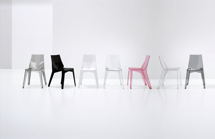 Poly XO and Poly XOXO chair Design by Karim Rashid for Bonaldo