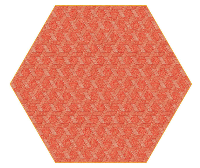 Hexagon Red Carpet by Studio Job for Moooi Carpets