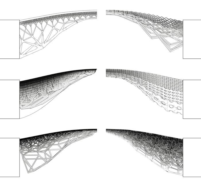 Sketches of 3D Printed bridge in Amsterdam - MX3D