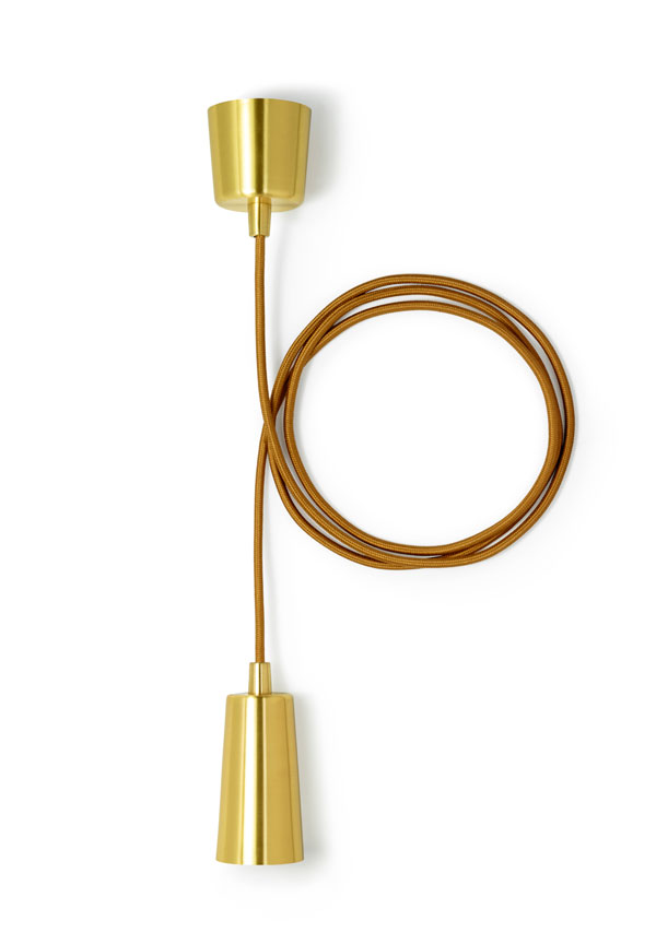 Brushed Brass Drop Cap by Plumen