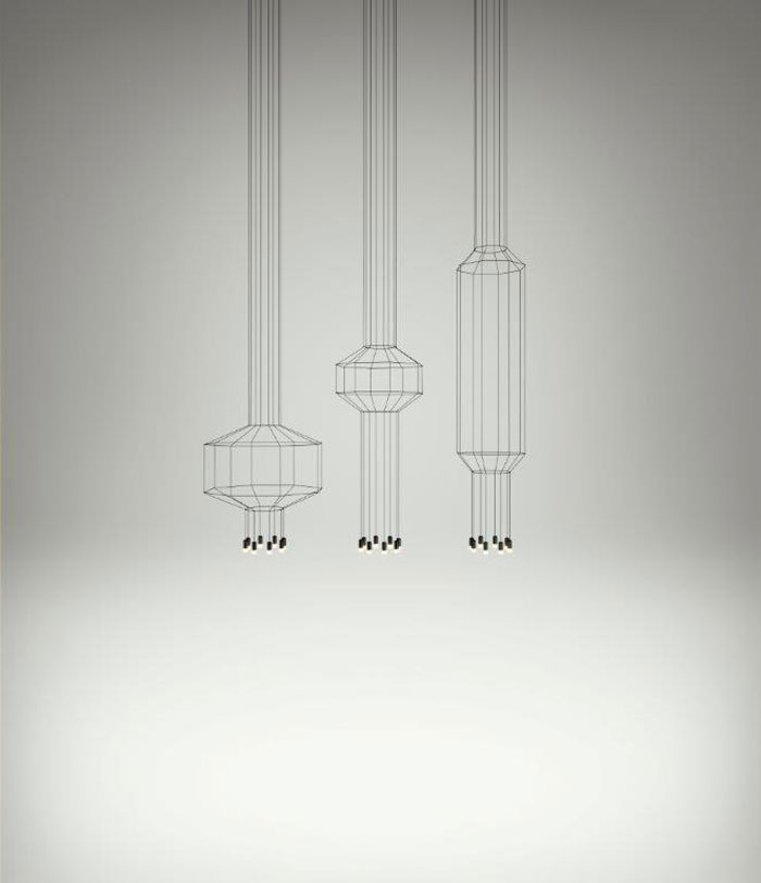 Wireflow Pendants by VIBIA