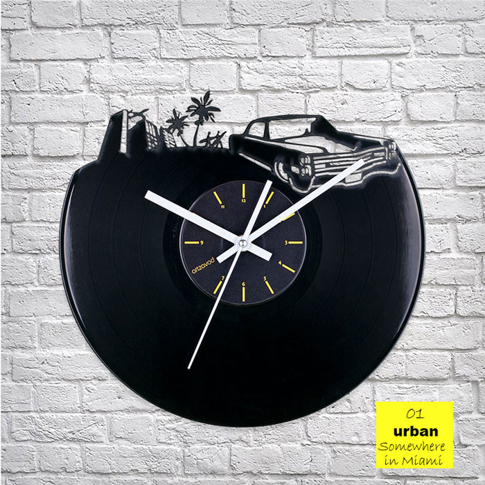 Urban Miami Vinyl Clock by ArtZavold