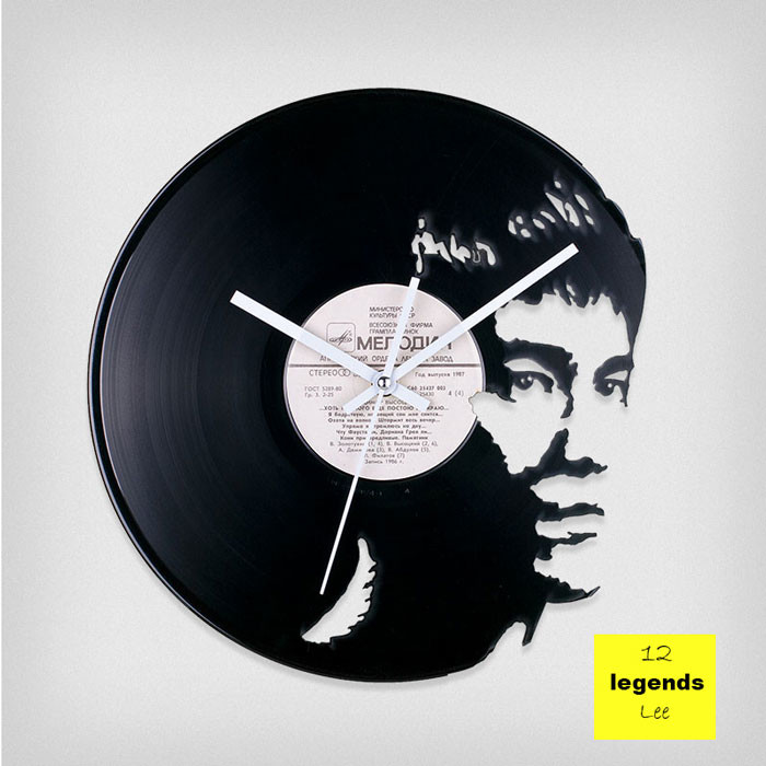 Legends Bruce Lee Vinyl Clock by ArtZavold
