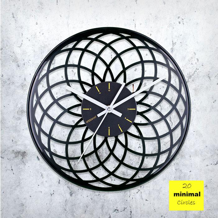 Minimal Circles Vinyl Clock by ArtZavold