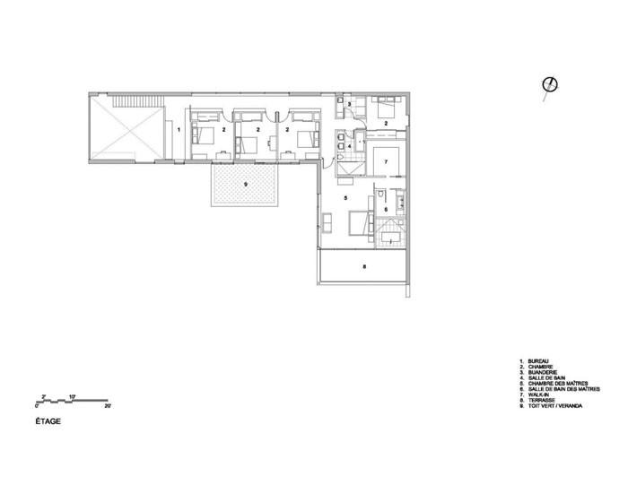 Veranda House by Blouin Tardif Architecture - Environnement Second Floor Plan