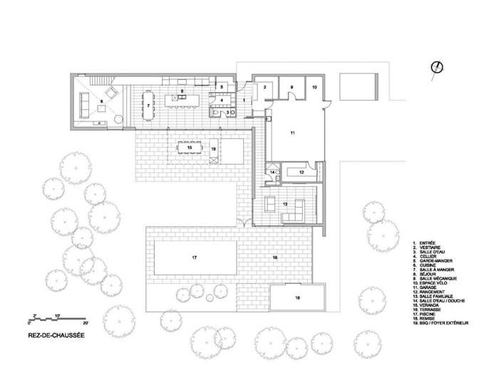 Veranda House by Blouin Tardif Architecture - Environnement Ground Floor