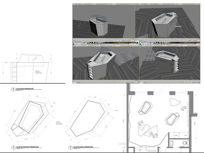 Némeau store by ean de Lessard, Designers Créatifs - detail