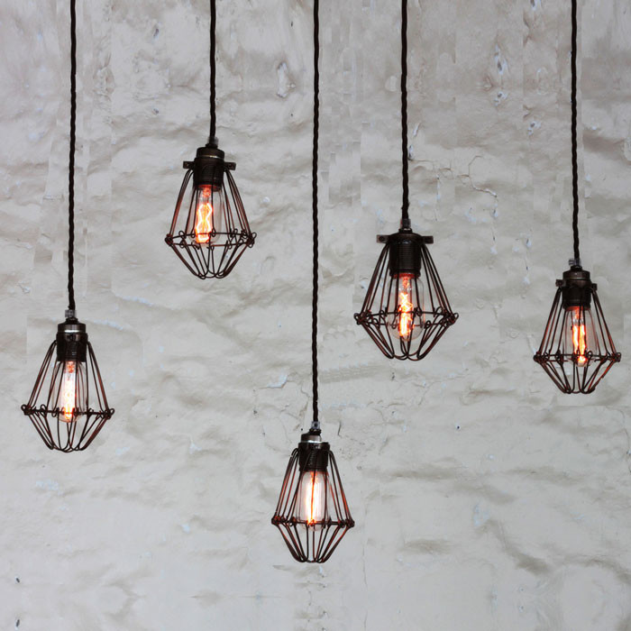 Praia Cage Pendant Light Cluster by Mullan Lighting