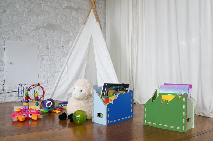 Gobble organizers by Form Maker (sustainable kids furniture)