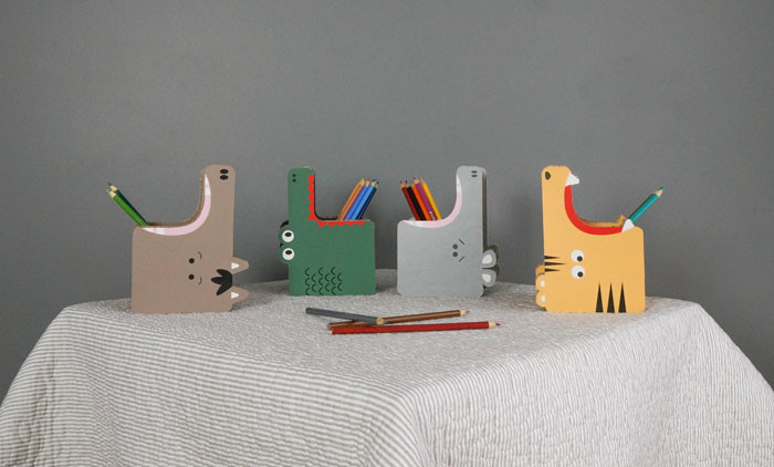 Gobble penholders by Form Maker (sustainable kids furniture)